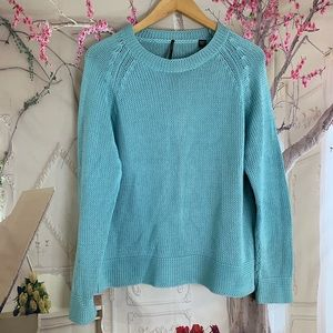 SOLD ISDA & CO Teal Knit Sweater Pullover